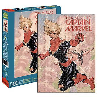 Marvel - captain marvel cover 500pc puzzel
