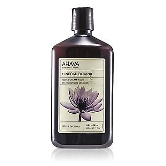 Minerale botanico velluto crema lavare fiore di loto & castano (pelle sensibile) 500ml/17oz