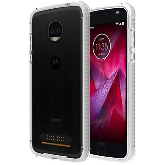 Verizon Two-Tone Bumper for Moto Z2 Force - Clear/Clear