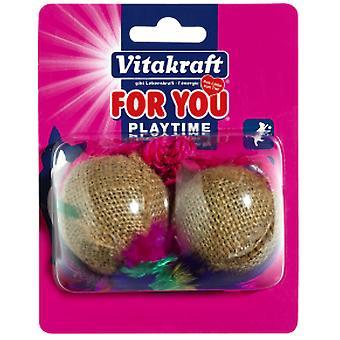 Vitakraft 2 Sisal Twine Balls (Cats , Toys , Balls)