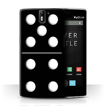 STUFF4 Case/Cover for OnePlus One/Black Tile 5/4/Dominoes/Dominos