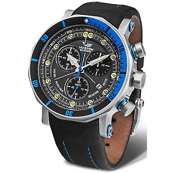 Vostok lunokhod-2 Chrono Quartz Analog Man Watch with Cowhide Bracelet 6S30-6205213