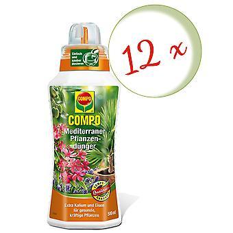 Sparset: 12 x COMPO Mediterraner Pflanzendünger, 500 ml