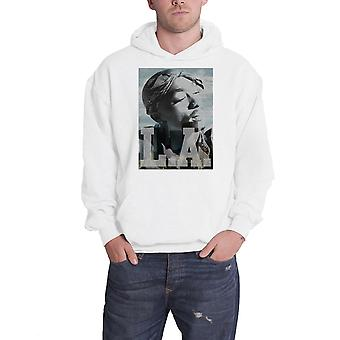 2pac Tupac Hoodie LA Skyline Logo new Official Mens White Pullover