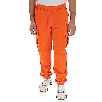 Off-white Omch017f19d250081910 Men's Orange Synthetic Fibers Pants