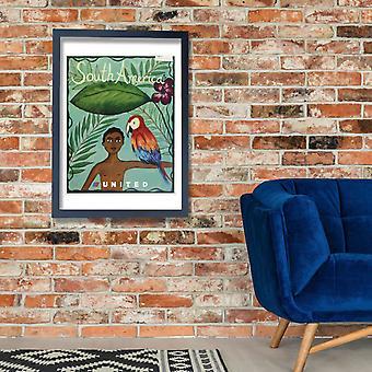 Unidos de América do Sul Poster impressão giclée