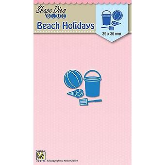 Nellie's Choice Shape Dies Vacaciones en la playa Vacaciones SDB051 39x36mm