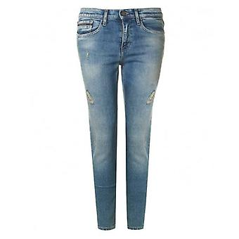 Calvin Klein Jeans Destructed High Rise Skinny Jeans