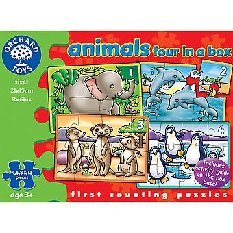 Animals Four In A Box Puzzles