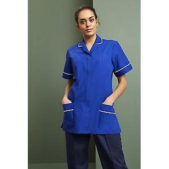SIMON JERSEY Women's Lightweight Classic Collar Healthcare Scrub Tunic, Royal Blue