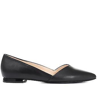 Hogl Womens Leather Ballerina Flats