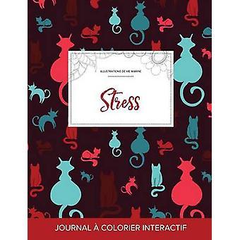 Journal de coloration adulte Stress Illustrations de vie marine Chats by Wegner & Courtney
