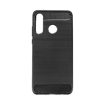 Hull For Huawei P40 Lite E Black Soft Carbon Effect