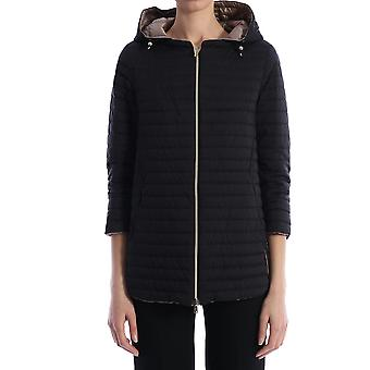 Herno Pi1092d192889300 Women's Black Nylon Outerwear Jacket