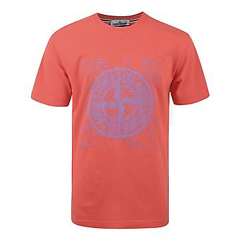 L'île de Pierre (fr) 2ns84 T-shirt graphique à deux manches - Rouge lavé
