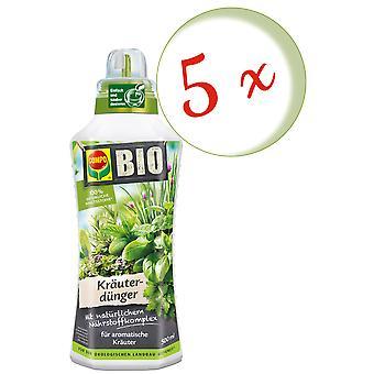 Sparset: 5 × COMPO BIO الأسمدة العشبية، 500 مل