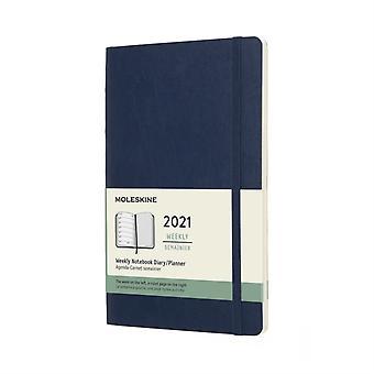 2021 12M Wkly Ntbk Lrg Sapphir Blue Soft