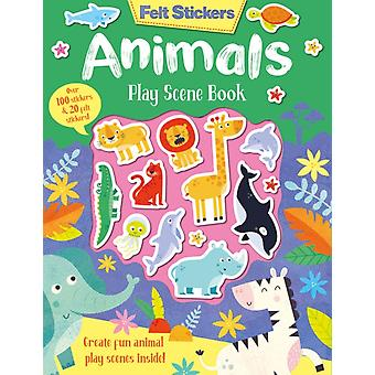 Felt Stickers Animals Play Scene Book by Kit Elliot