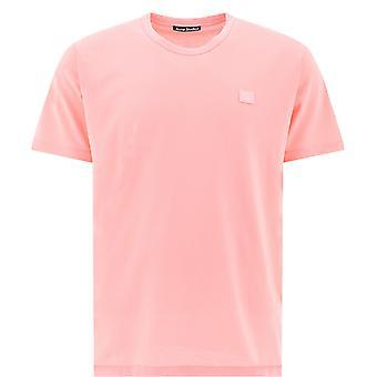Akne Studios 25e173blushpink Miesten's Vaaleanpunainen Puuvilla T-paita