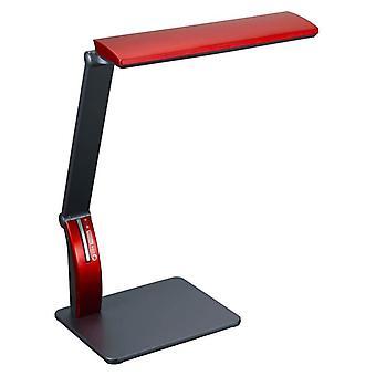 Xtralite Oxford LED Desk Lamp Touch Sensitive Dimmer USB Plug Red Table Light