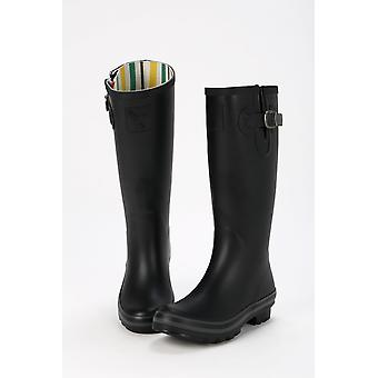 Evercreatures Ladies All Black Tall Wellies