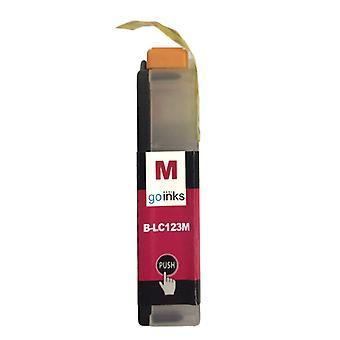 1 Cartucho de tinta magenta para reemplazar Las tintas compatibles/no OEM de Brother LC123M