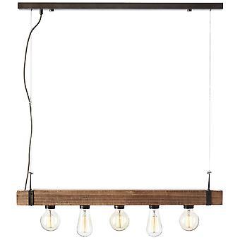BRILLIANT Lampa Woodhill Hängslampa 5flg Antik/Svart   5x A60, E27, 30W, g.f. normala lampor n. ent.   Justerbar i höjd