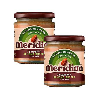 2 x 170g Meridian Smooth Almond Butter Natural 100% Nuts Spread Baking