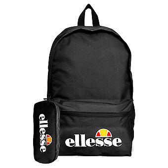Ellesse Heritage Rolby Sac à dos - Pencil Case School College Sports Bag Black