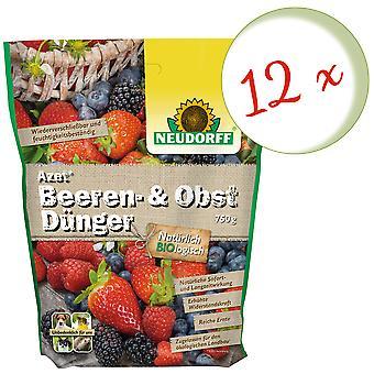 Sparset: 12 x NEWDORFF Azet® Berry and fruit fertilizer, 750 g