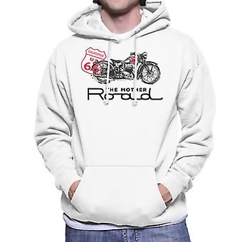Route 66 The Mother Road Motorcycle Men's Hooded Sweatshirt