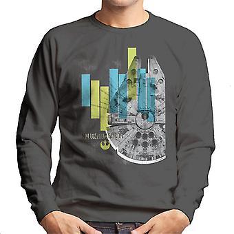 Star Wars Millenniumm Falcon Corellian Light Freighter Men's Sweatshirt