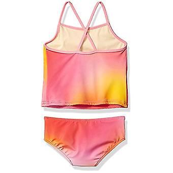 Essentials Girl's 2-Piece Tankini Set, Ombre Pink, X-Small