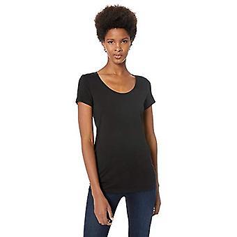 Lark & Ro Femmes&apos&s Jersey Pima Cotton/Modal Scoop Neck Short Sleeve T-shirt, B...