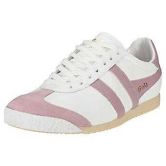 Gola Harrier 50 Womens Classic Trainers en rose blanc