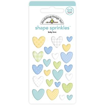 Doodlebug Design Baby Love Shape Sprinkles (23pcs) (6762)