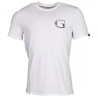 Denk dat G Space White Logo Crew Neck T-shirt M0YI86J1300