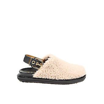 Marni Fbms009401lm071zl140 Naiset's Beige Nahka sandaalit