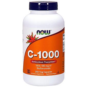 Nu voedingsmiddelen, C-1000, Met 100 mg Bioflavonoïden, 250 Vegetarisch Capsules