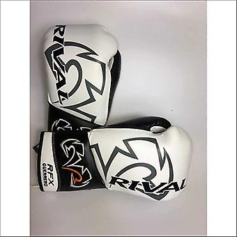 Rival rfx-guerrero lace up pro boxing gloves - sf - white black