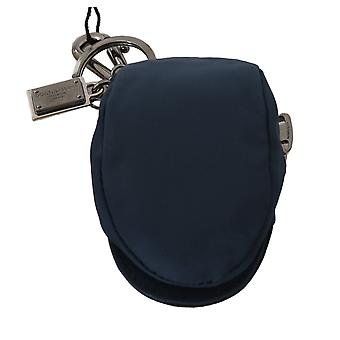 Dolce & Gabbana Blue Cotton Hat Style Logo Badge Keyring  Keychain -- SMYK377520