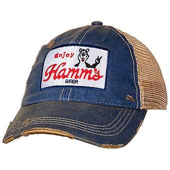 Hamm's Bear Vintage Mesh Trucker Snapback Hattu