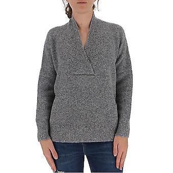Fabiana Filippi Mad220w110c430vr3 Women's Grey Wool Sweater