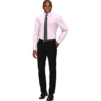 BUTTONED DOWN Men's Slim Fit Button Collar Solid Non-Iron Dress Shirt, Light ...