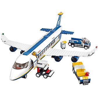 Airport Building Blocks Air Plane Passenger Block Avitation Boy Favorite Toys