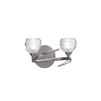 inspirert mantra - loop - vegglampe byttet 2 lys G9 ECO, sateng nikkel