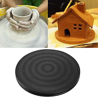 "8"" Round Bonsai Turntable For Revolving Kitchen Cake Display, Ceramic Clay"