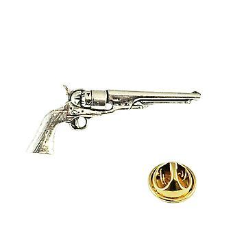 Ties Planet Antique Revolver Pistola Pewter Lapel Pin Badge
