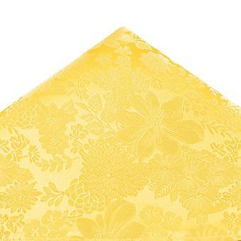 Solmiot Planet Gold Label Sitruuna Keltainen Itse Kukka Kuviollinen Silkki Tasku Neliö Nenäliina
