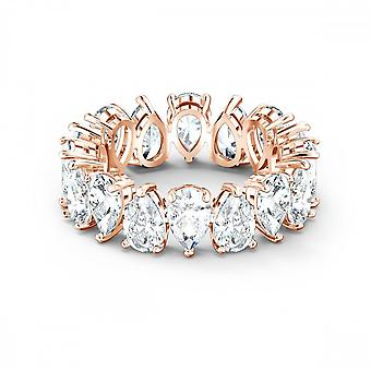 Swarovski Vittore Pear White Rose Gold-tone Plated Ring